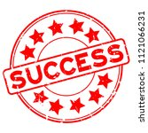 grunge red success word with... | Shutterstock .eps vector #1121066231