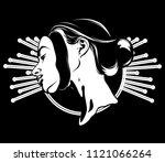 vector hand drawn illustration... | Shutterstock .eps vector #1121066264
