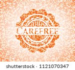 carefree abstract orange mosaic ... | Shutterstock .eps vector #1121070347