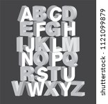 bold 3dimensional 3d typography ...   Shutterstock .eps vector #1121099879