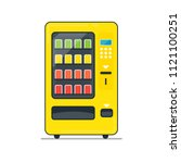 vending machine filled outline... | Shutterstock .eps vector #1121100251