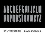 thin 3dimensional 3d typography ... | Shutterstock .eps vector #1121100311