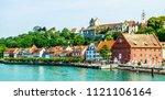 famous old town of meersburg in ... | Shutterstock . vector #1121106164