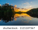 Sunset In The Amazon River...