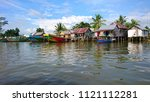 traditional fisherman village | Shutterstock . vector #1121112281