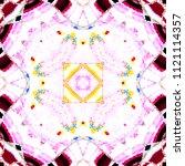 colorful kaleidoscopic pattern... | Shutterstock . vector #1121114357