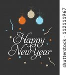 happy new year greeting card | Shutterstock .eps vector #112111967