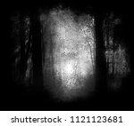 scary horror dark forest ...   Shutterstock . vector #1121123681