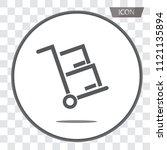 handcart icon vector isolated... | Shutterstock .eps vector #1121135894