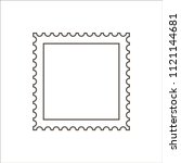 postage stamp icon | Shutterstock .eps vector #1121144681