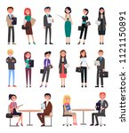 business people collection... | Shutterstock .eps vector #1121150891