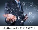 financial technology flowchart... | Shutterstock . vector #1121154251