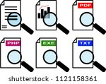 an icon set for a magnifier... | Shutterstock .eps vector #1121158361