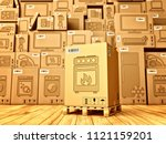 shopping  purchase and delivery ... | Shutterstock . vector #1121159201