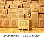 shopping  purchase and delivery ... | Shutterstock . vector #1121159204