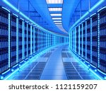 network and internet... | Shutterstock . vector #1121159207