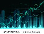 stock market or forex trading... | Shutterstock . vector #1121163131