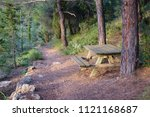 Bench And Trail In Hymettus ...