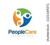people care logo vector | Shutterstock .eps vector #1121169371