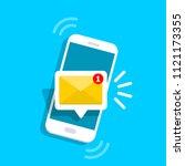 unread email notification. new... | Shutterstock .eps vector #1121173355