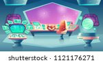 vector background with alien... | Shutterstock .eps vector #1121176271