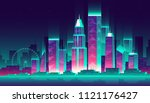 vector modern megapolis at... | Shutterstock .eps vector #1121176427