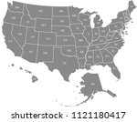 usa map vector outline... | Shutterstock .eps vector #1121180417