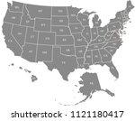 usa map vector outline... | Shutterstock .eps vector #1121180417