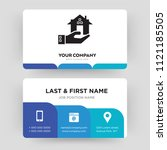 real estate  business card... | Shutterstock .eps vector #1121185505