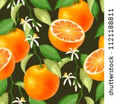 seamless pattern with orange   Shutterstock .eps vector #1121188811