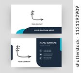 down right arrow  business card ...