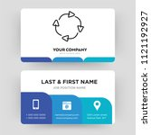 spinning arrows  business card...
