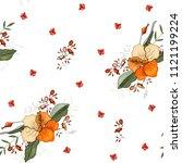 botanical motifs. isolated... | Shutterstock .eps vector #1121199224