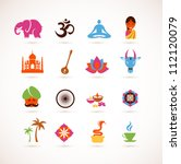 collection of  india vector... | Shutterstock .eps vector #112120079