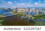 aerial view of the dnieper... | Shutterstock . vector #1121207267