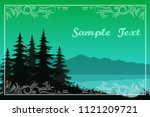 night landscape  green... | Shutterstock .eps vector #1121209721