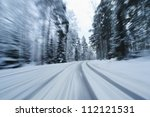 Snow Covered Country Road From...