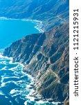 aerial view of chapman's peak... | Shutterstock . vector #1121215931