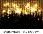 dancing people silhouettes.... | Shutterstock .eps vector #1121220194