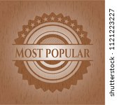 most popular retro style wooden ... | Shutterstock .eps vector #1121223227