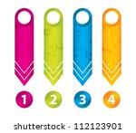 special grunge arrow stickers... | Shutterstock .eps vector #112123901