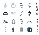 treatment icon. collection of... | Shutterstock .eps vector #1121240825