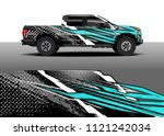 truck and car graphic... | Shutterstock .eps vector #1121242034