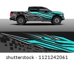 truck and car graphic...   Shutterstock .eps vector #1121242061