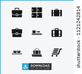 baggage icon. collection of 9... | Shutterstock .eps vector #1121242814