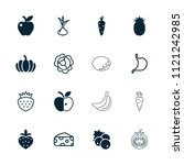 vegetarian icon. collection of... | Shutterstock .eps vector #1121242985