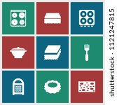 utensil icon. collection of 9... | Shutterstock .eps vector #1121247815
