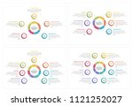 circle infographics templates... | Shutterstock .eps vector #1121252027