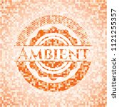 ambient abstract orange mosaic... | Shutterstock .eps vector #1121255357