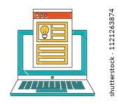 laptop creativity innovation... | Shutterstock .eps vector #1121263874